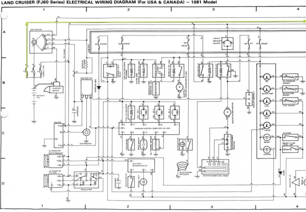 medium resolution of wiring diagram fj60 usa 1 1980 chassis body hazard horn headlight circuit fsm jpg