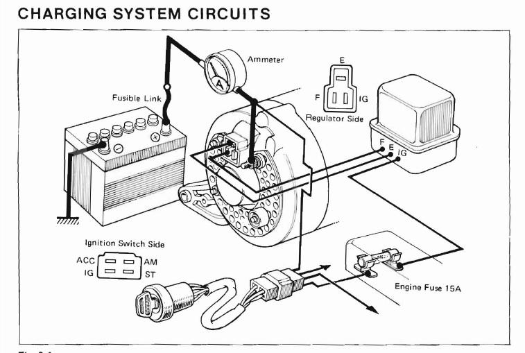single wire alternator diagram cobalt orbital toyota wiring
