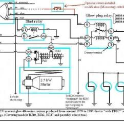 100 Series Landcruiser Wiring Diagram Compare And Contrast Mass Weight Venn Internal Of Bj40/bj42/hj42 Glow Relay (manual ...