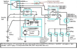 Internal wiring of BJ40BJ42HJ42 glow relay (Manual glow