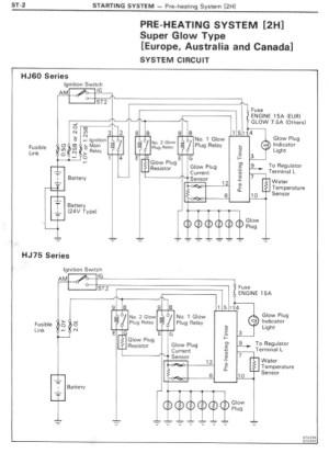 HJ60 PreHeating System Wiring Diagram | IH8MUD Forum