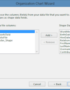 org chart wizard select shape data fields also exporting  teams to visio for charts admins  support center rh forumstle