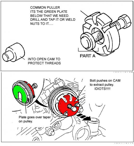2002 ford taurus radiator hose diagram ez go rxv electric wiring water pump replacement coolant t by pass mazda 6 forums click image for larger version name web puller1 jpg views 30083 size