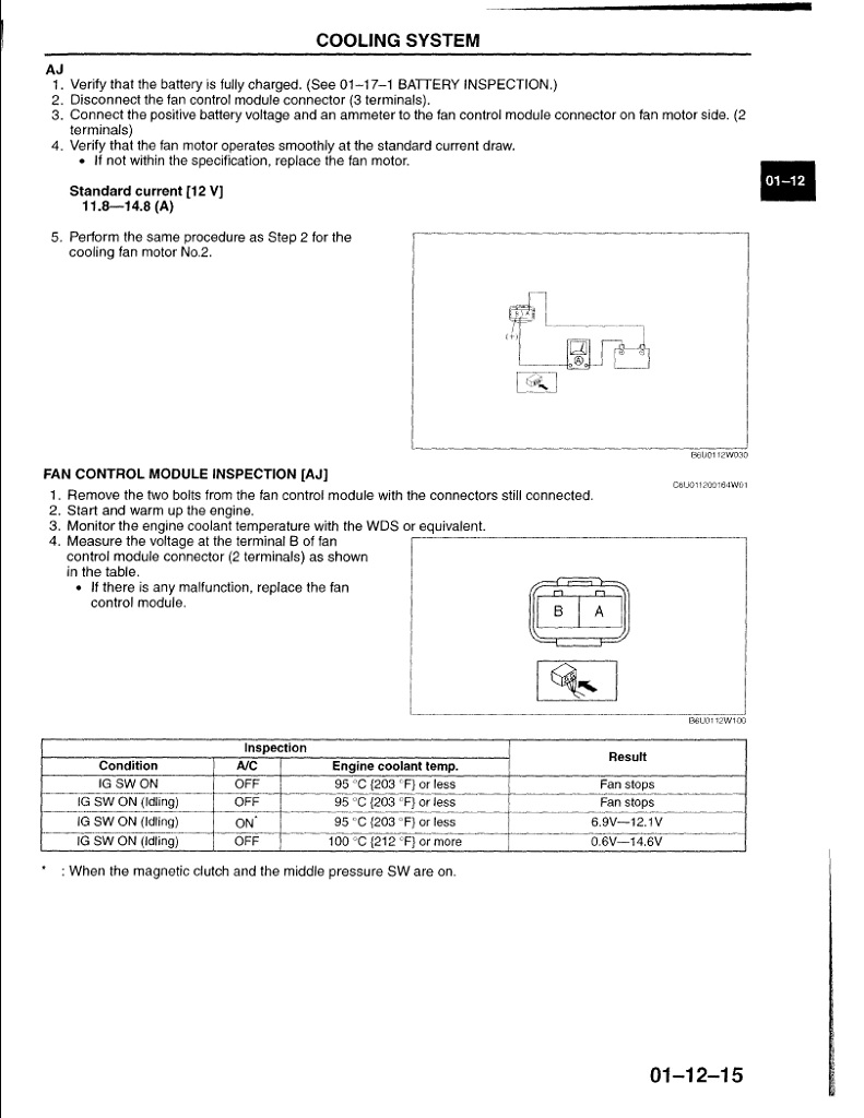 medium resolution of 2006 mazda 6 cooling fan diagnostic mazda 6 forums mazda 6 forum 2005 mazda 6 electrical schematics 2003 mazda 6 cooling fan wiring diagram