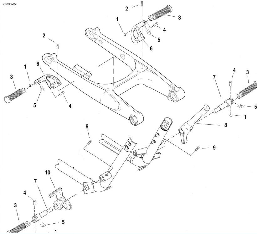 VRSCD/X Night Rod (Sp.): Schwinge ausbauen (S. 1