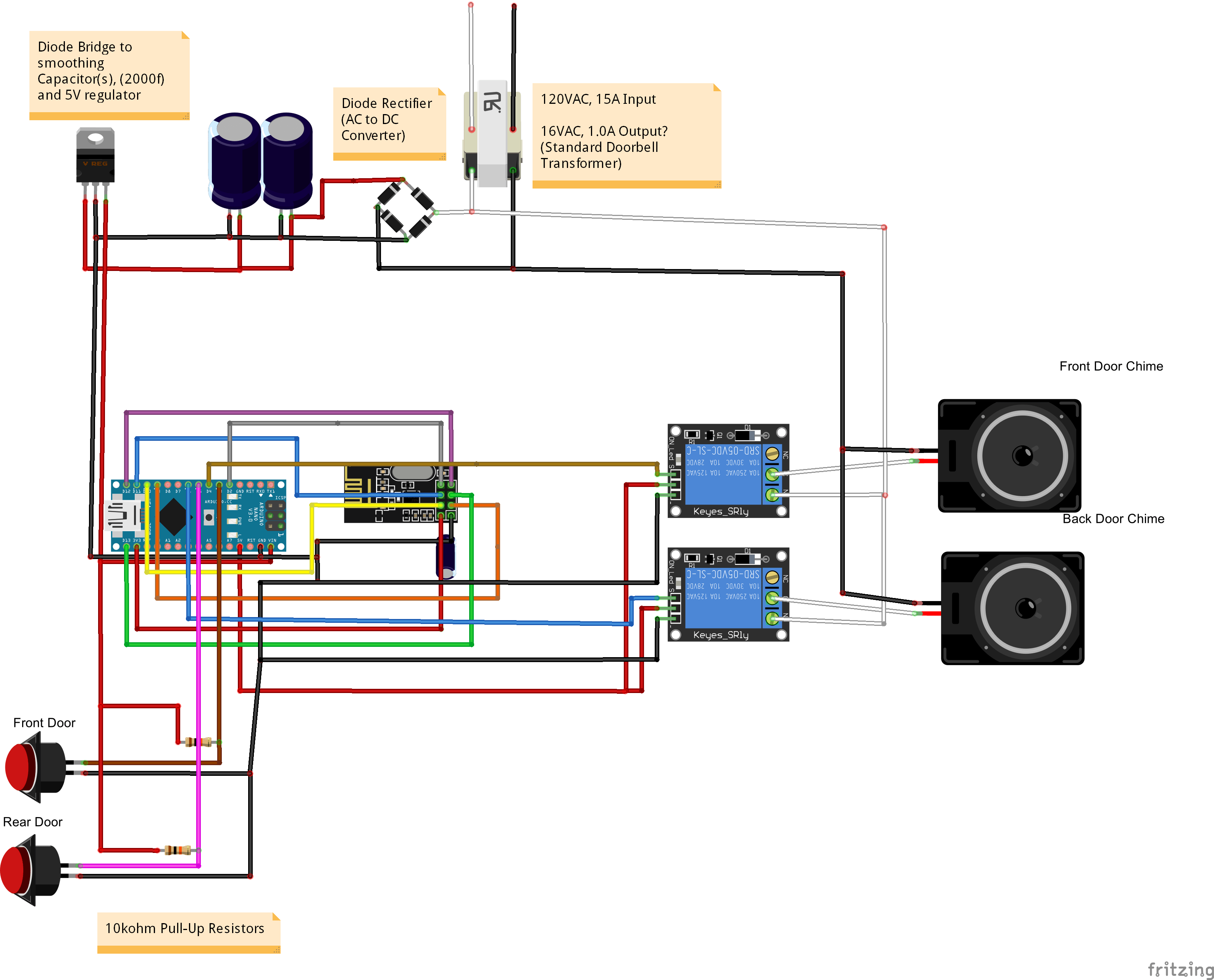 Door Chime Wiring Diagram Doorbell