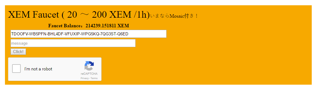 creating a testnet faucet for xem and