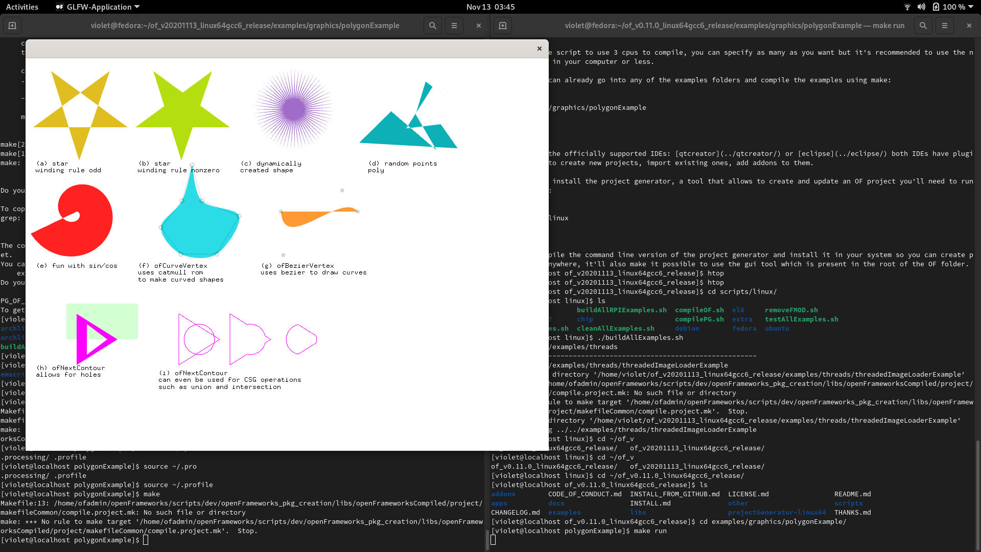 Difficulty Getting Up and Running - Install / Makefile Bugs on Fedora - linux - openFrameworks