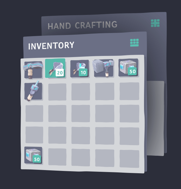 art new inventory crafting