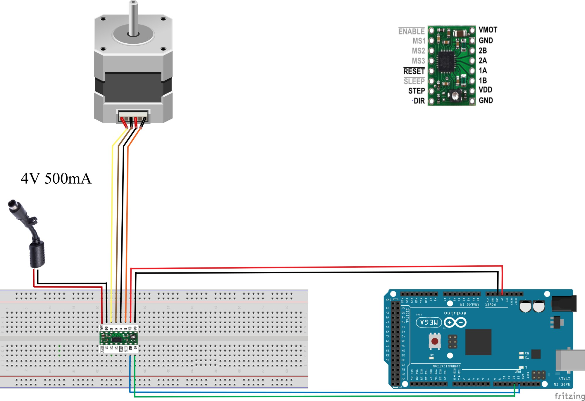 hight resolution of pololu a4988 and nema17 stepper motor motor controllers drivers nema 17 wiring diagram