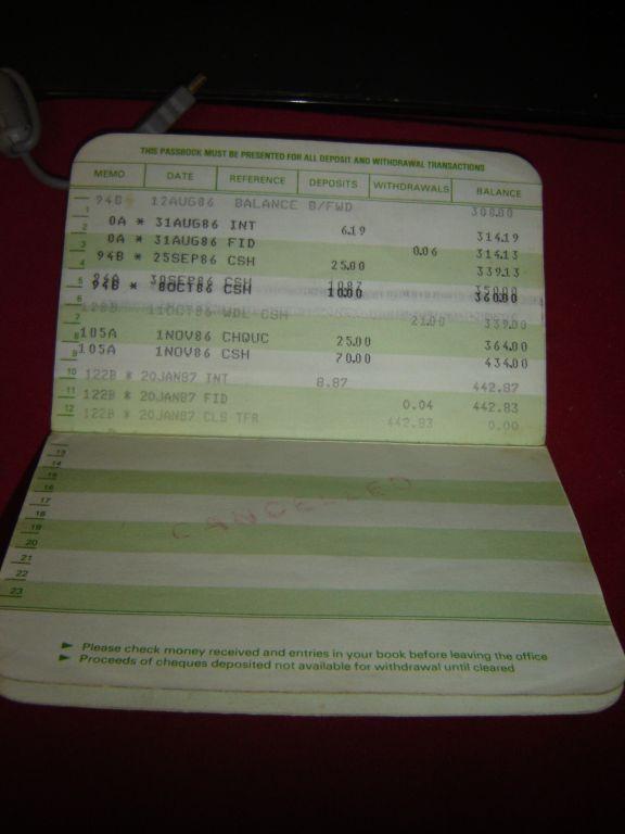 FS Australian NSW savings bank passbook 375