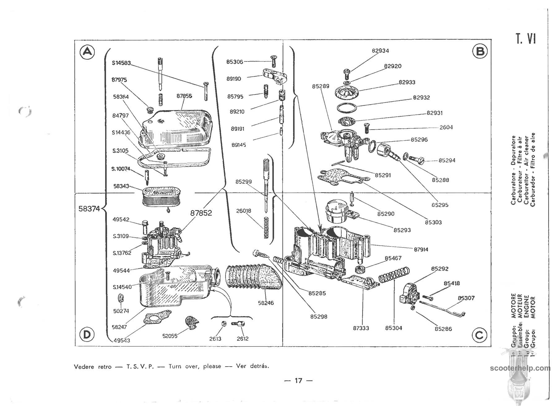 Vespa 150 (VBB1T) Parts Manual