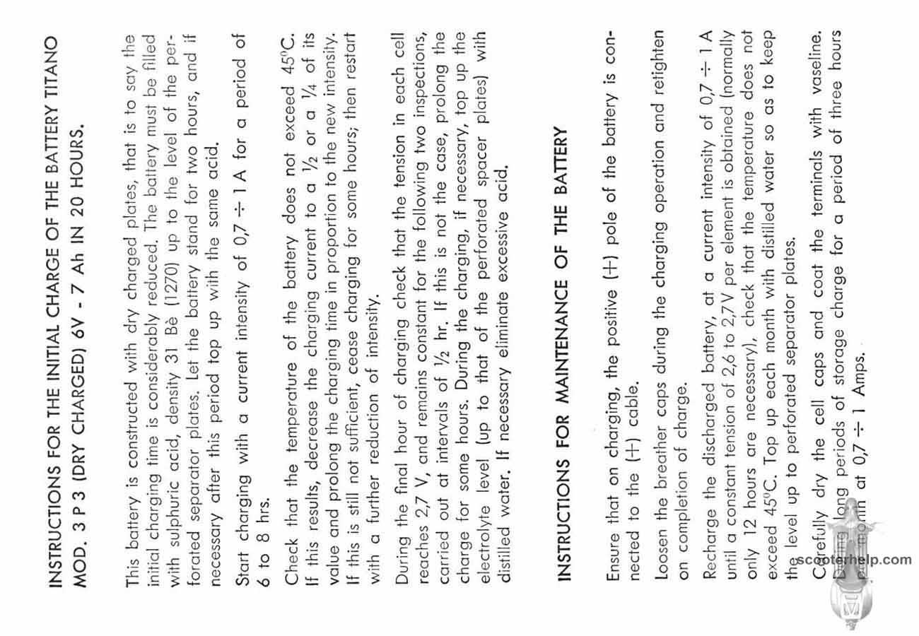 Vespa Primavera Owner's Manual