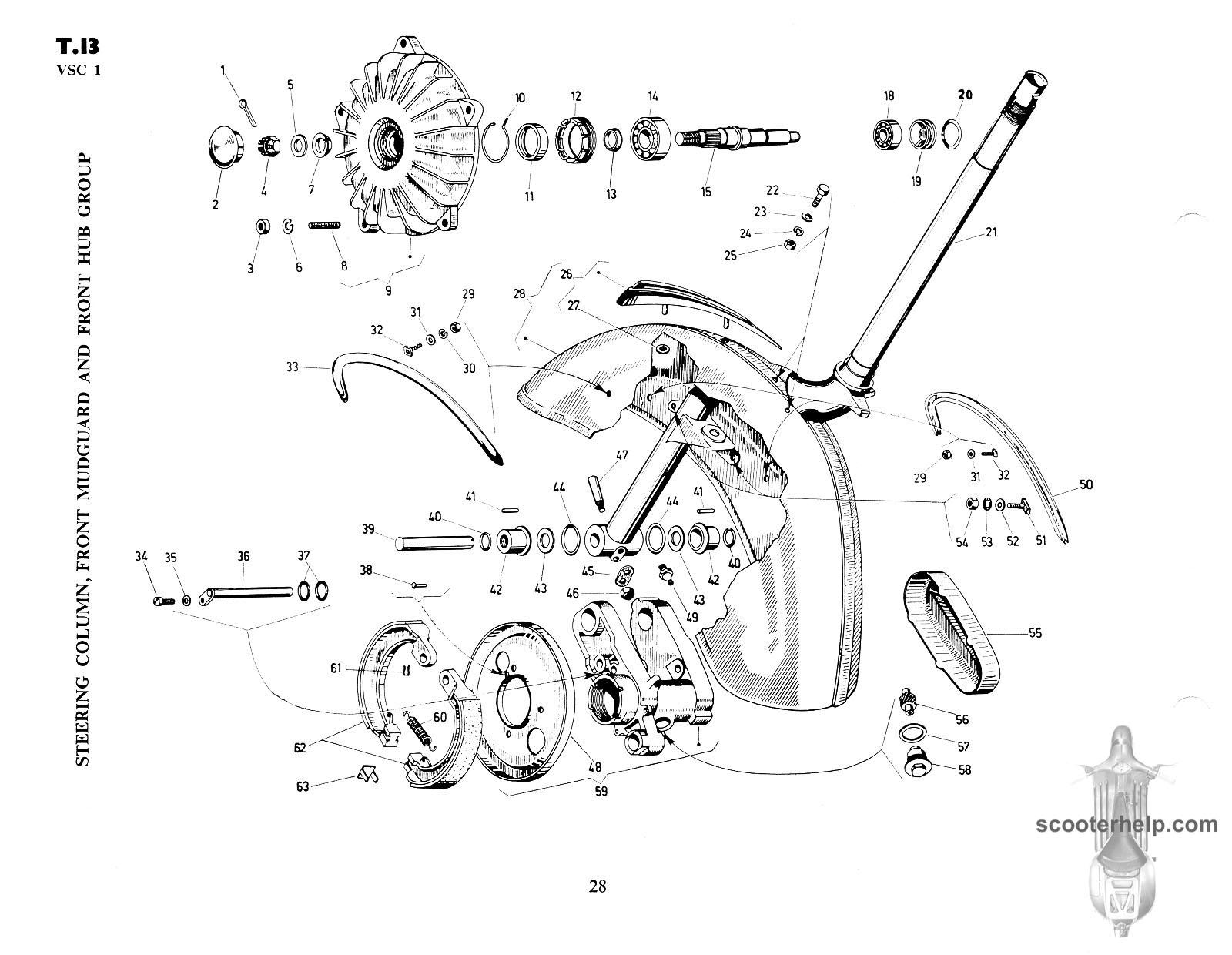 Vespa SS180 (VSC1T) Parts Book