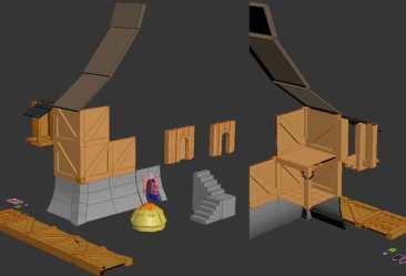 WIP medieval fantasy modular house set Medieval Fantasy Contest Sketchfab Forum