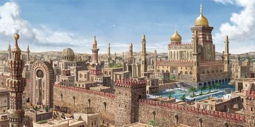 arabian medieval fantasy concept wip sketchfab inspired overview kb 1200
