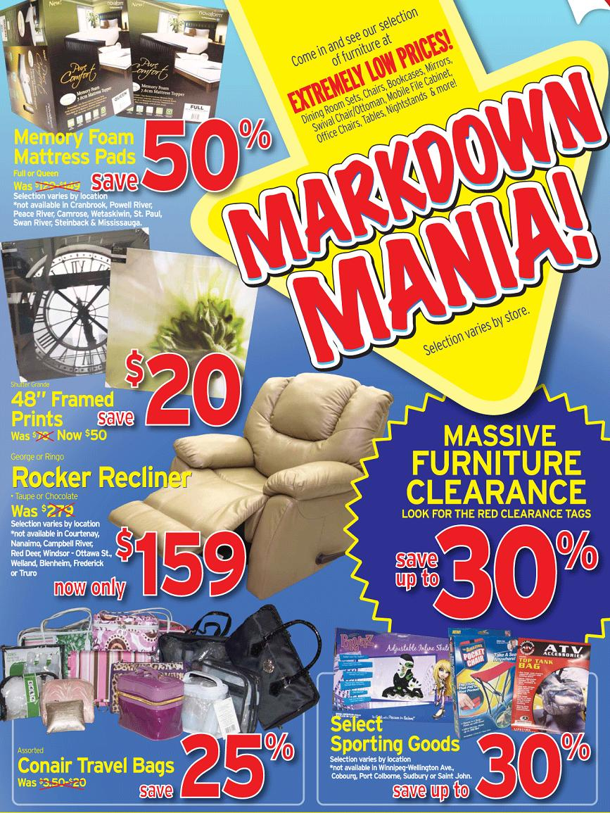 Liquidation World Flyer Deal Liquidation World Markdown Mania Canada Flyers Coupons Deals
