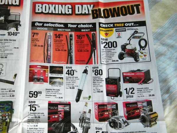 Flyer Canadian Tire ON Boxing Week Flyer