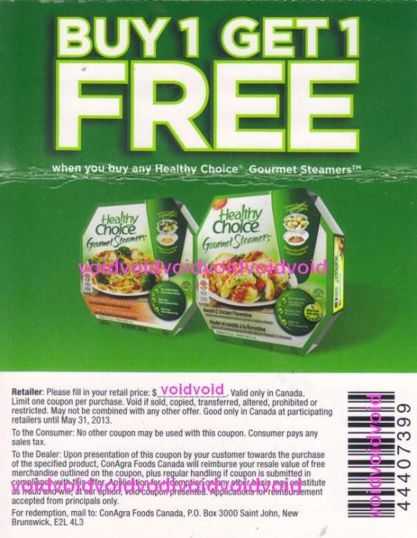 Coupons healthy choice  Knight coupons