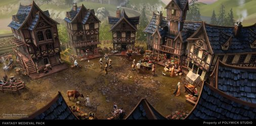 medieval fantasy town marketplace pack asset unity unity3d community copy edited oct last