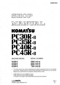 Komatsu PC30r-8,PC35R-8,PC40R-8, PC45R-8 shop manual
