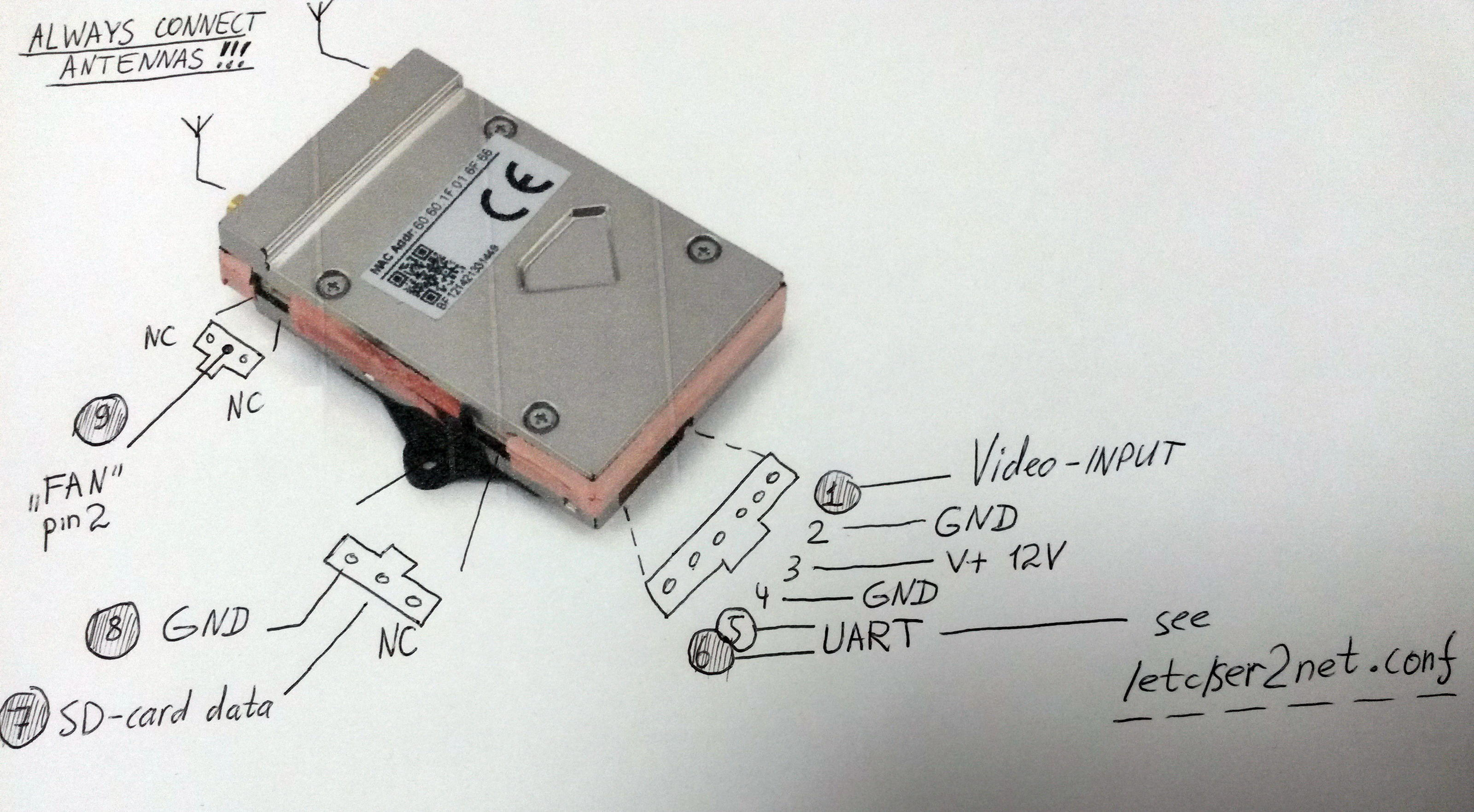 fpv transmitter wiring diagram ibanez rg vision+ stock with 3rd party camera..... working | dji forum