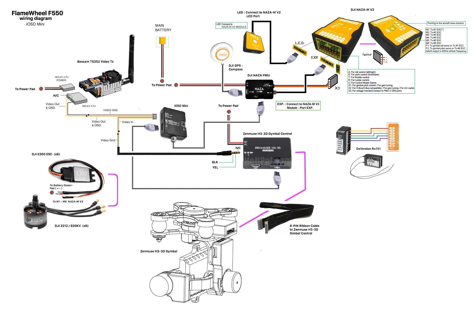 naza osd wiring diagram wiring diagrams DJI Phantom 2