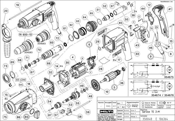 Pin Hilti Te72 Parts Breakdown Httpwwwrem 5ruhilti In on