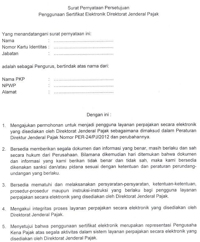 Surat Permintaan Sertifikat Elektronik