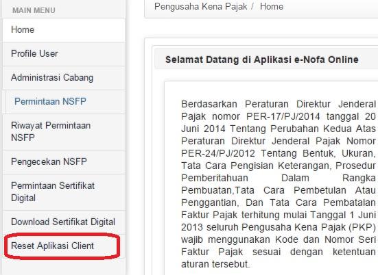Reset E Faktur Forum Pajak Indonesia