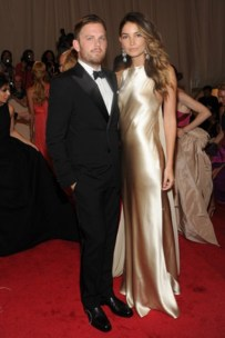 Caleb Followill, in Ralph Lauren Black Label; with Lily Aldridge, in Ralph Lauren Collection, with Ralph Lauren Vintage Collection jewels.