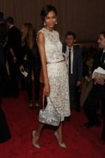 Chanel Iman, in Dolce & Gabbana.