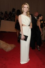 Emma Roberts, in Michael Kors, with Chopard jewels.