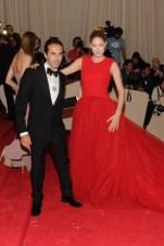 Giambattista Valli with Doutzen Kroes, in a dress by the designer.