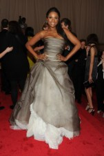 Jennifer Hudson, in Vera Wang, with Fred Leighton jewels.