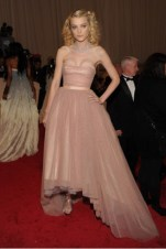 Jessica Stam, in Tommy Hilfiger, with Chopard and Cathy Waterman jewels and Roger Vivier shoes.