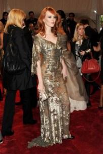 Karen Elson, in Alexander McQueen.