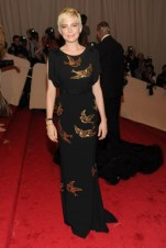 Michelle Williams, in Miu Miu, with Fred Leighton jewels.