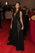 Thandie Newton, in Stella McCartney, with Solange Azagury-Partridge jewels and a Jimmy Choo clutch.