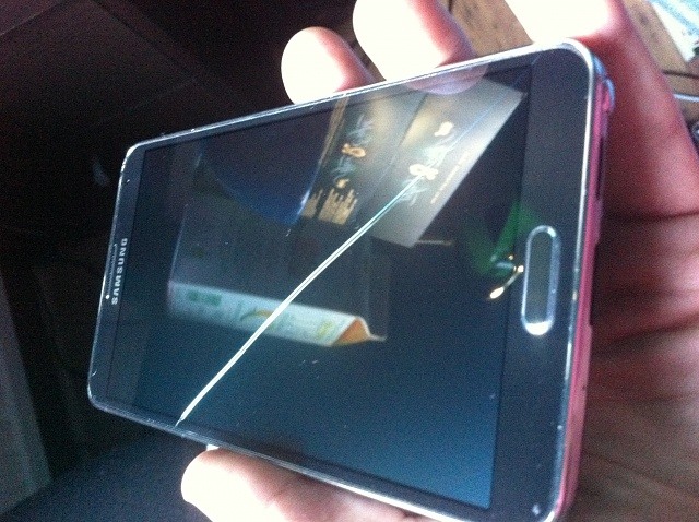 Samsung Galaxy Cracked Screen Defect Not Dropped Note 3 Amp Note 2 S4 Amp S3 Android Forums