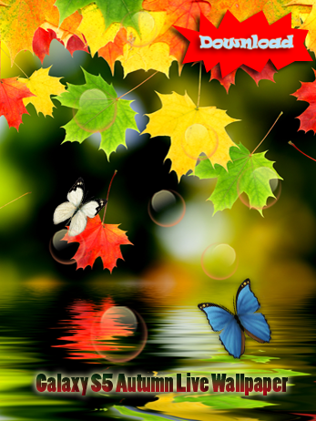 Fall Season Live Wallpaper For Android Free Samsung Galaxy S5 Autumn Butterfly Live Wallpaper