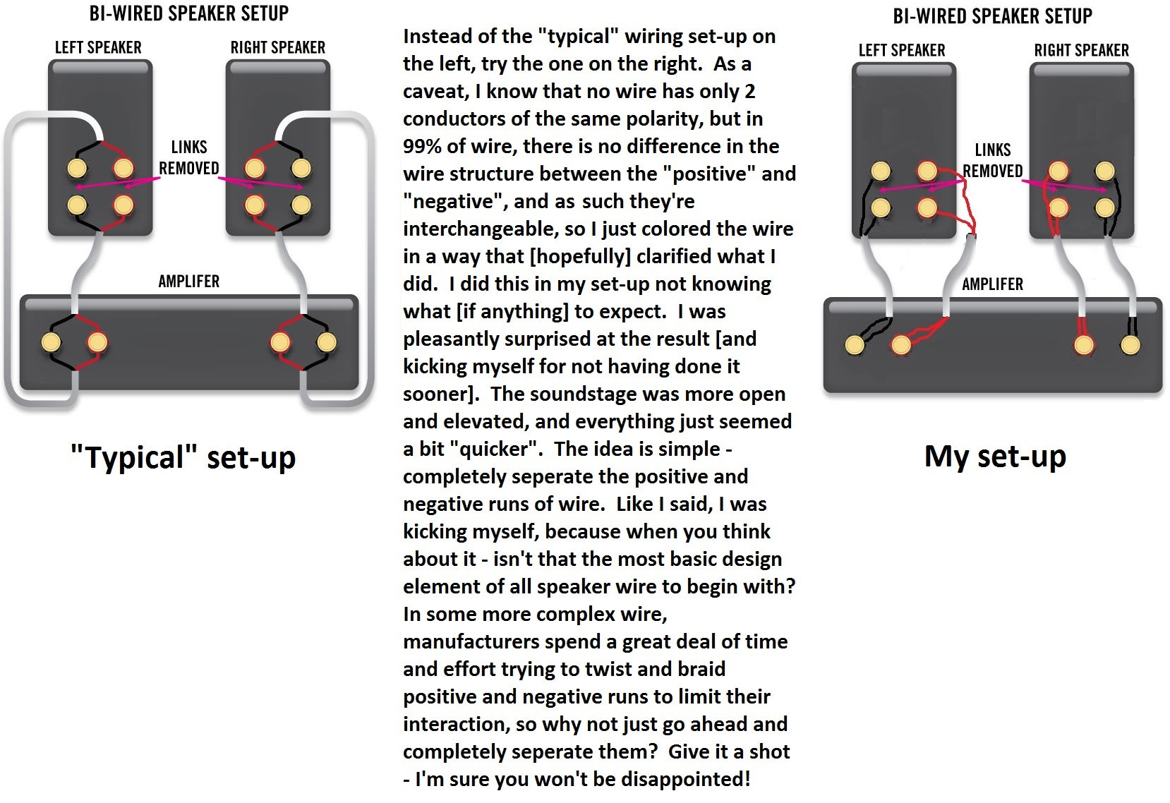 bi amp wiring diagram two lights one switch uk speakers 26 images