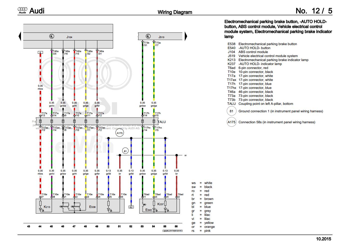 [DIAGRAM] Audi Q5 Wiring Diagram 2015 FULL Version HD