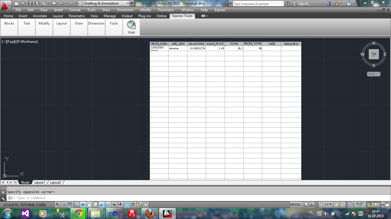 I Want To Read Data From A Dwg Excel File Using C