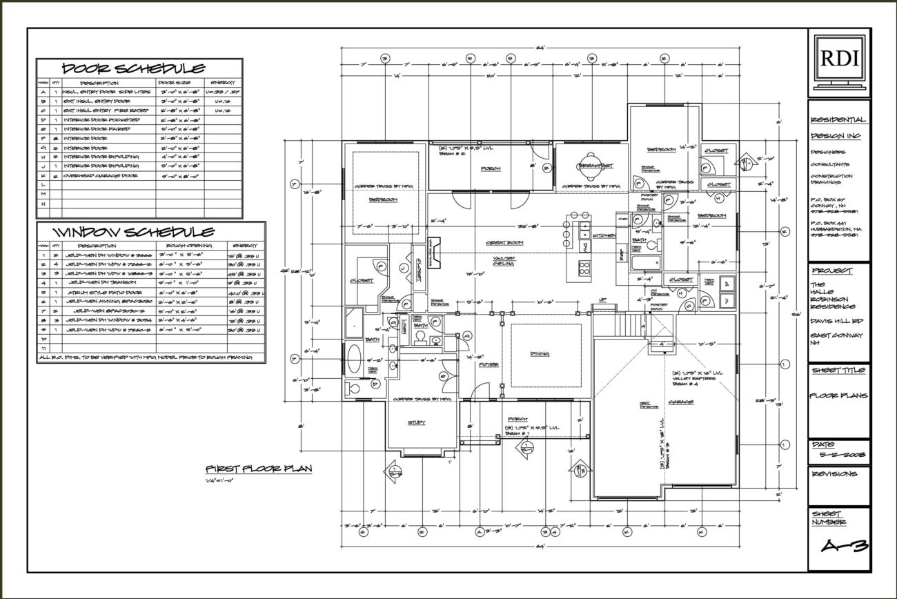 Educationstander: Autocad Plan Sample