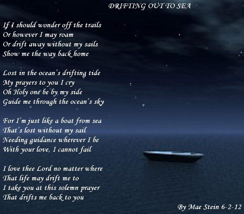 DRIFTING OUT TO SEA Spiritual Poetry