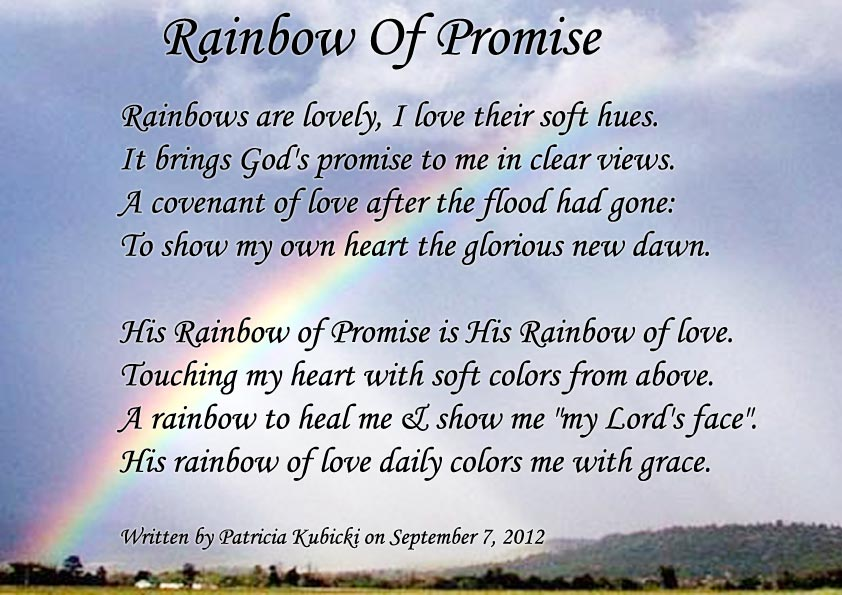 """Rainbow Of Promise"" Spiritual Poetry"