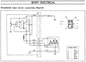 240Z Windshield Wiper Motor Connecting Diagram  Members