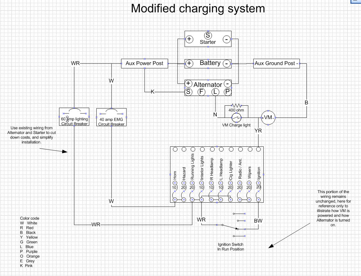 cs144 alternator wiring diagram 2004 pontiac grand prix abs 240z charging system upgrade ignition and electrical
