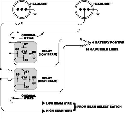 Simple 12v Horn Wiring Diagram Headlight Relay For 260 280 S30 Series 240z 260z